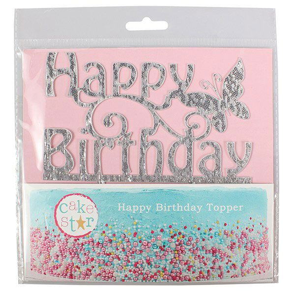 Happy Birthday - dekorace Glitter